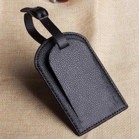 レザー製 ブラック ネームタグ トモウハンドバッグ製作 旅行荷物タグ バッグ用タグ アクセサリー小物 ゴルフバッグタグ