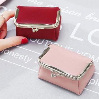 がま口 レザー コインケース レット トモウオリジナル製作 小銭入れ かわいい 財布 小物入れ レディース メンズ
