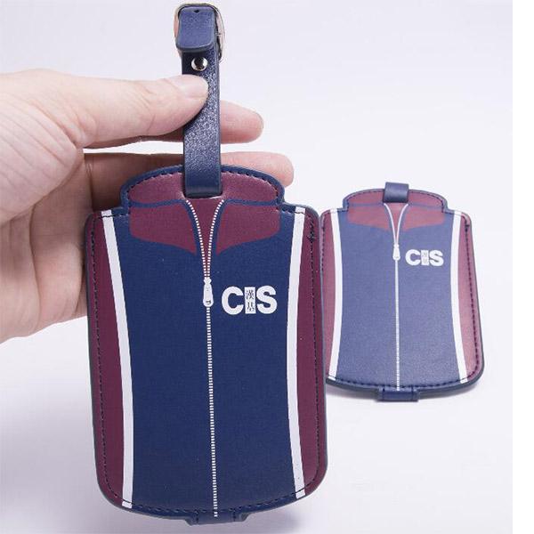 レザー製 スーツケースネームタグ 荷物タグ ラゲージタグ 旅行用 小ロット製作対応