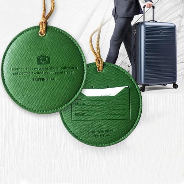 ネームタグ 旅行用品 グリーン 便利グッズ ネームホルダー 小物付き シンプル 耐久性 キャリーバッグ用ネームタグ