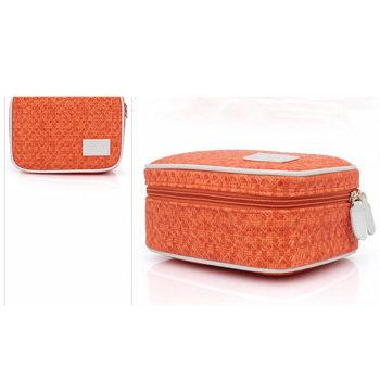 レザー 化粧ポーチ コスメバッグ トラベルポーチ 収納ポーチ 化粧品 収納 小物入れ 女性 超軽量 機能的 大容量