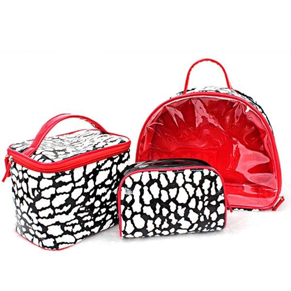 化粧品 収納ポーチ 大容量 収納バッグ トラベルポーチ 洗面用具入れ PUレザー/PVC 小物入れ 持ち運び可 小物整理 防水