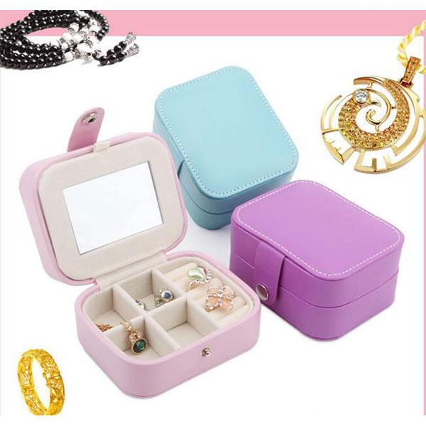 可愛い ジュエリーボックス 携帯用 ピンク トモウオリジナル製作 アクセサリー箱 収納ケース 誕生日 プレゼント 女性