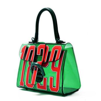 グリーン ビニールショルダーバッグ 斜めがけ レディース 大容量 人気 おしゃれ 多機用 クリアバッグ