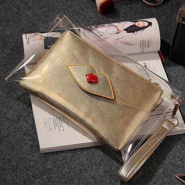 透明クラッチバッグ レディース おしゃれ チェーン付き ビニール クリアバッグ ショルダーバッグ 斜め掛け 激安仕入れ製作対応