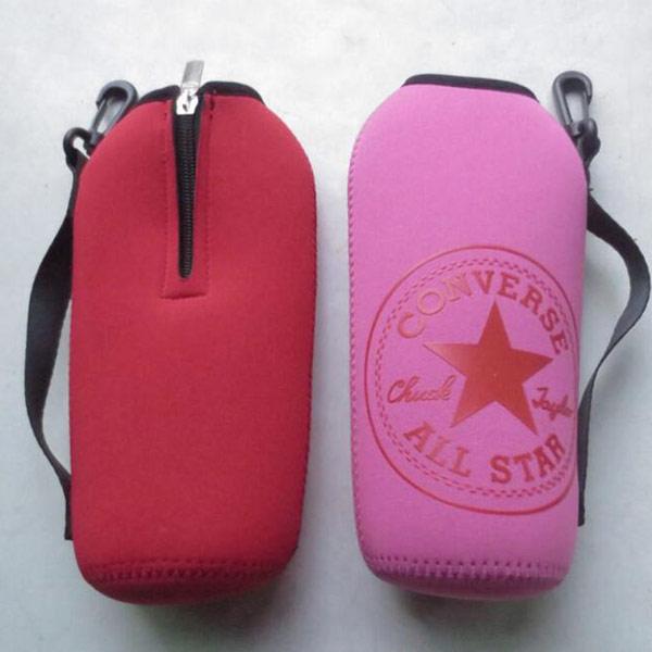 ペットボトル サーモカバー ピンク トモウオリジナル製作 ボトルホルダー トラップ付き ドリンク缶カバー ビール瓶カバー