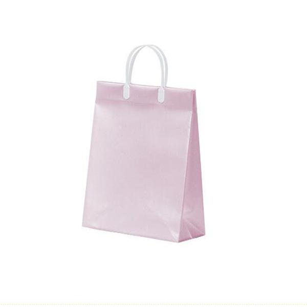 キャリー ビニールバッグ 手提げバッグ 二つカラー ピンク ライトブルー