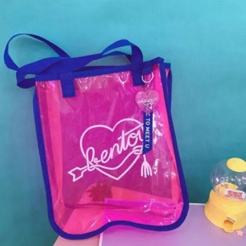 透明バッグ クリアバッグ レディース トモウハンドバッグ製作 大容量 ビニールバッグ 夏 プール 海 防水バック トートバッグ 2WAYバッグ