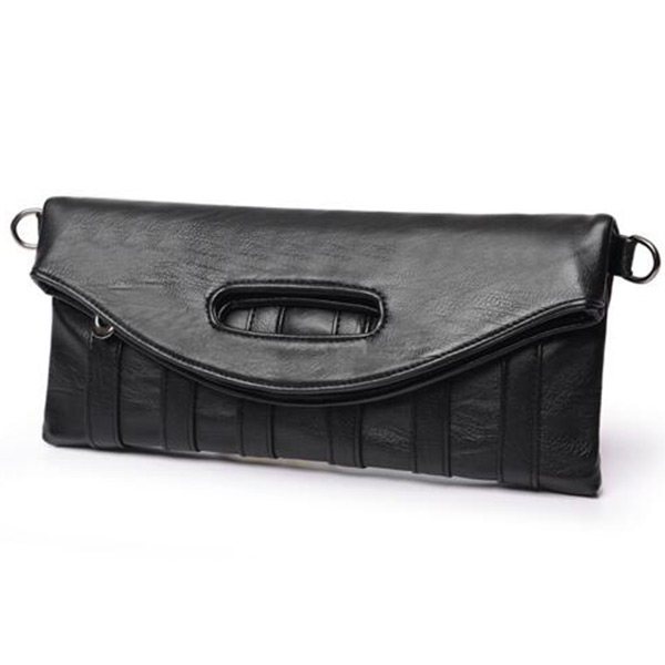 2018新製品 クラッチバッグ ブラック トモウハンドバッグ製作 ショルダーバッグ PUレザー  チャック付きバッグ 女性