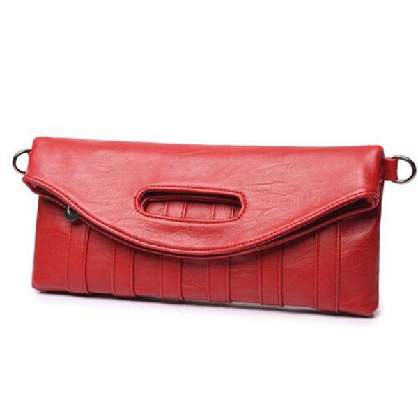 レッド レザークラッチバッグ トモウハンドバッグ製作 二つ折り レディース 取り出しやすい チャック付き 手提げバッグ