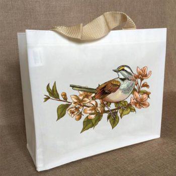 フィルムコーティング不織布バッグ 大容量トートバッグ ショッピングバッグ 白色 防水素材 買物用 ギフトバッグ