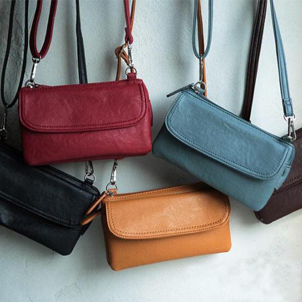 多収納マルチミニショルダーバッグ お財布ポシェット 高級革バッグ おしゃれ レディース 鞄 斜め掛け OEM製造対応