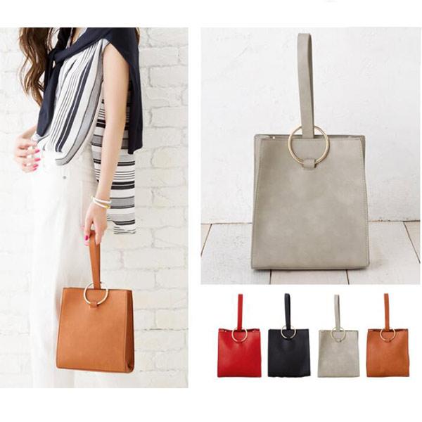 レディース ショルダーバッグ レッド オフィスカジュアル シンプル 無地 女性 高級お洒落 かわいい 2WAYバッグ 鞄