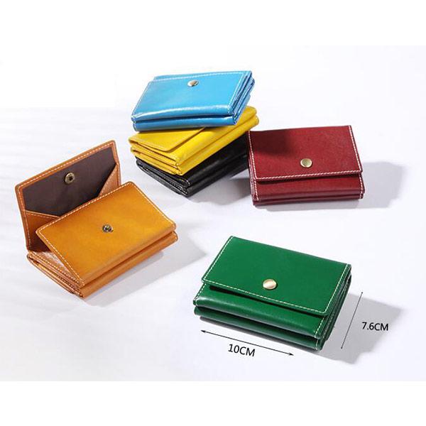 三つ折り財布 本革 コインケース 薄型 小銭入れ パーティー財布 コンパクト メンズ レディース プレゼント 小ロット製作対応