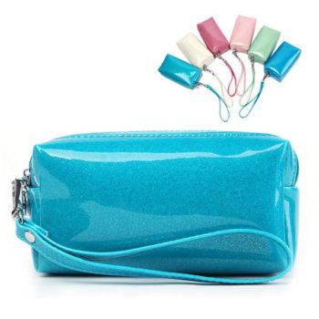 PU化粧バッグ クラッチバッグ メイクボックス ファスナー式 小物 化粧品などを収納 バニティーポーチ 6色選択可 小ロットオリジナル製作