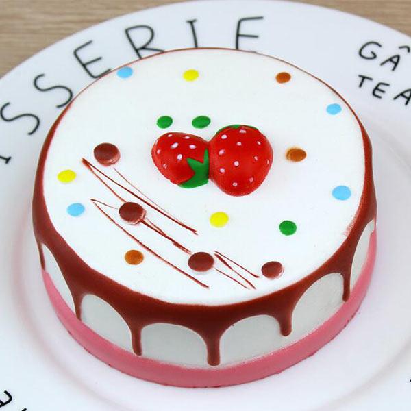 スクイーズ ケーキ 柔らかい いちご 果物 パン 食品サンプル PU  ふわふわ もちもち 癒しグッズ 観賞用 香り付きオリジナル製作対応