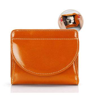 OEM二つ折り財布 本革製 大容量 小銭入れ付 コインケース カード入れ  紙幣大量収納可 ボックス型短財布  ブラック ブラウン色 オリジナル小ロット製作