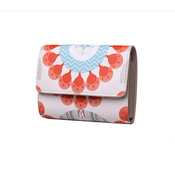 短財布 折財布 ミニバッグ 植物柄財布 花柄財布