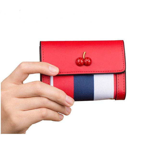 さくらんぼカードケース ミニカードケース 新しい大容量カード入れ 銀行カードケース クレジットカード