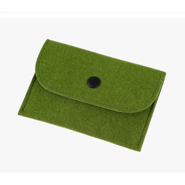 フェルト小銭入れ フェルト収納 シンプルカードケース オリジナルロゴ 長四角財布