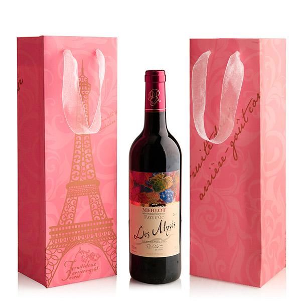 ワイン用手提げ紙袋 ボトルバッグ ワイン1本 ワイン用紙袋 ペーパーボトルバッグ