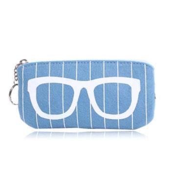 收纳袋 眼鏡ケース 男女向け眼鏡ケース 携帯フェルトケース メガネ用ハードケース