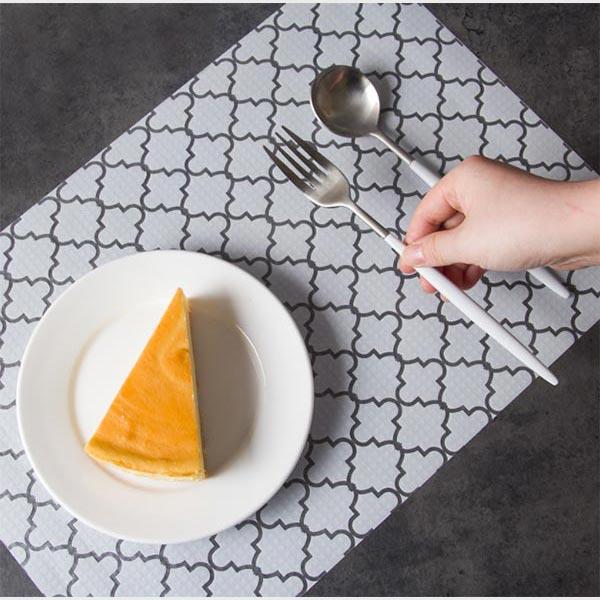 pvcバスランチマット 白いランチマット キッチン用品 pvcマット テーブルランナー