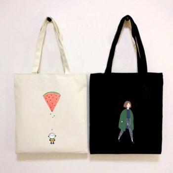 エコバッグ スクール キャンバス鞄 オリジナル トート 肩掛け 手持ち