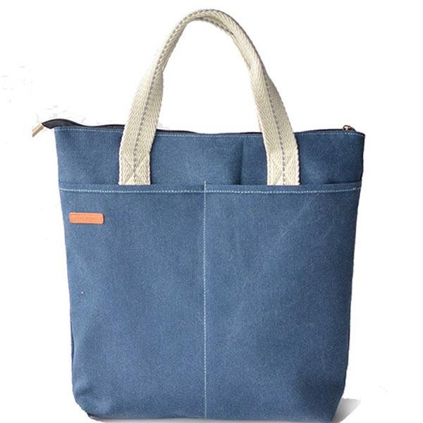 A4サイズ キャンバス デニムカバン 製作 学生スクールバッグ 学生 手提げ鞄 トートバッグ
