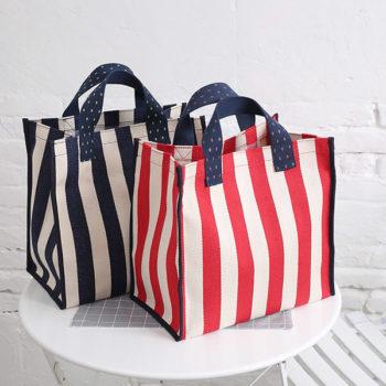 マチ付きトートバッグ オリジナルバッグ バイカラー 爽やかで快適 選べる3タイプ