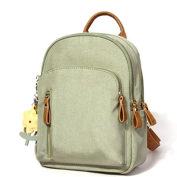ミニ花バッグ 小物鞄 ミニリュック 背面ファスナー付 三層があり スクールカバン