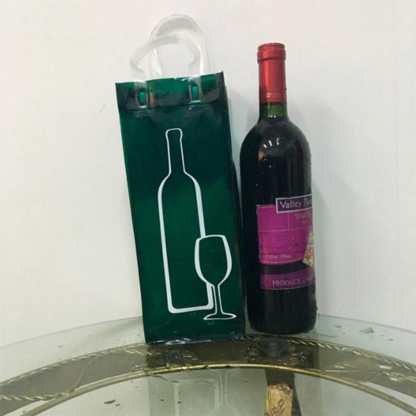 半透明手提げ袋 ギフトバッグ ポリプロピレン製ワインバッグ ワイン用袋 お酒ビニールバッグ