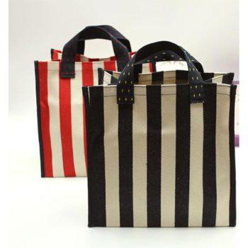 髙品質 エコバッグ ストライプショピング袋 キャンバス手提げバッグ 女性 学生 シンプルバッグ