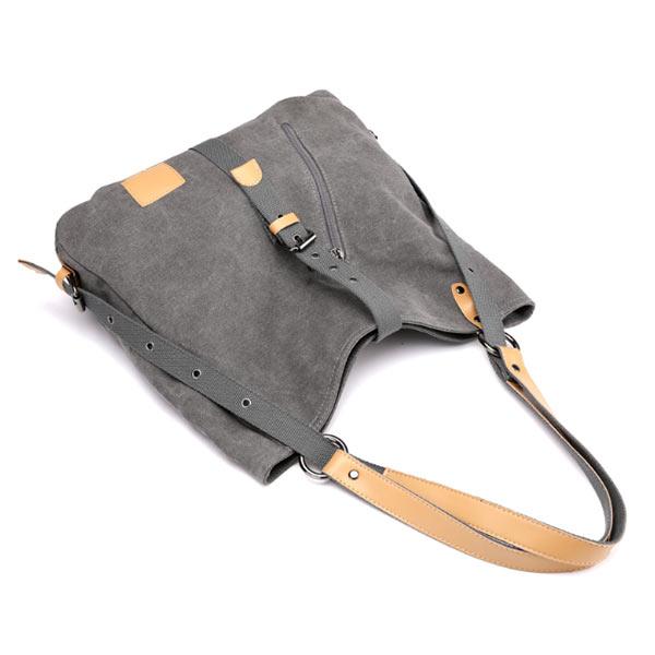 シンプル女性カバン キャンバス 女性ハンドバッグ 学生 大容量 斜めバッグ 収納