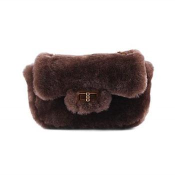 高品質オリジナル柔らかくの羊毛で覆われているバッグレディース
