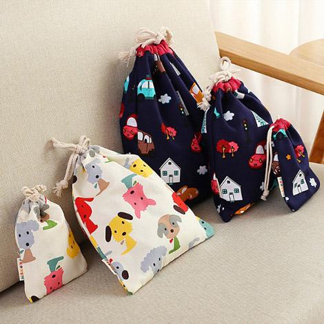 旅行収納袋 巾着袋 キャンバス収納袋 男女兼用 整頓ミニ布袋 キャンバスオリジナル 巾着袋 小ロット激安